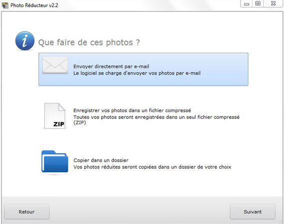 E nvoyer ses photos par email