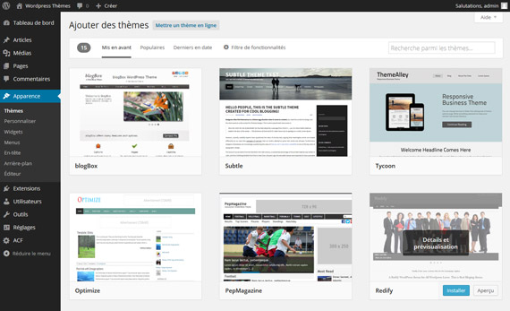 Themes Directory